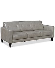 "Montrose 85"" Leather Sofa, Created for Macy's"