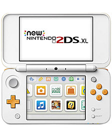 Nintendo 2DS XL White and Orange