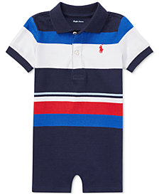 Ralph Lauren Cotton Jersey Romper, Baby Boys