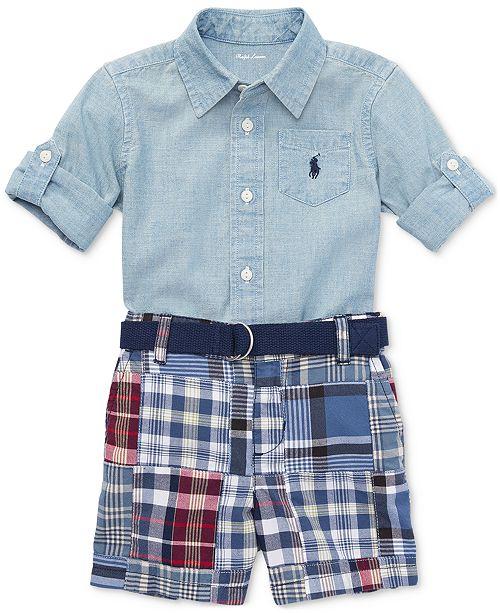 65523440 Polo Ralph Lauren Ralph Lauren Cotton Chambray Shirt & Patchwork ...
