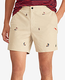 "Polo Ralph Lauren Men's Classic-Fit Embroidered Sailboat Prepster 6"" Shorts"