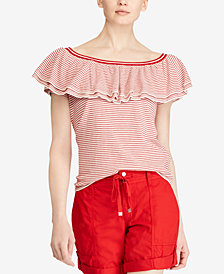 Lauren Ralph Lauren Petite Ruffled Sweater