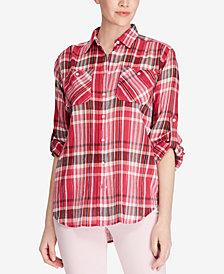 Lauren Ralph Lauren Petite Plaid Cotton Shirt