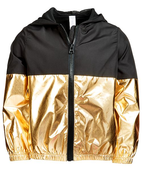 261a94d4af3 Ideology Toddler Girls Metallic Colorblocked Zip-Up Hooded Jacket, Created  for Macy's