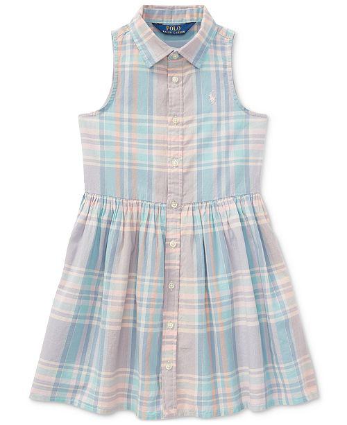 7098491c67a9 ... Polo Ralph Lauren Fit   Flare Cotton Shirtdress