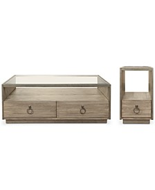 Esme Table 2-Pc. Set (Rectangle Coffee Table & Chairside Table)