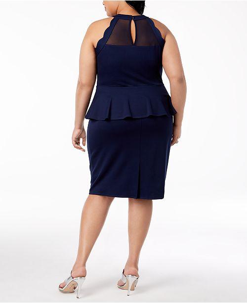 Monteau Trendy Plus Size Peplum Bodycon Dress Dresses Plus Sizes