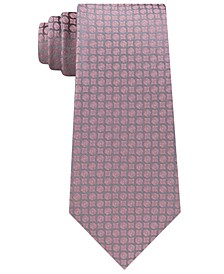 Men's Clean Medallion Slim Silk Tie