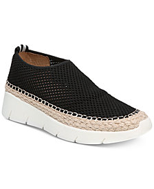 Franco Sarto Pascha Perforated Slip-On Espadrille Fashion Sneakers