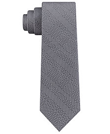 Calvin Klein Men's Infinite Dashes Skinny Silk Tie