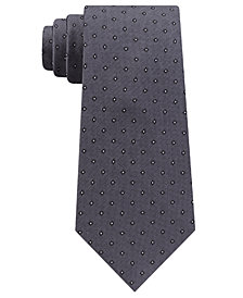Calvin Klein Men's Mini Oxford Square Slim Silk Tie