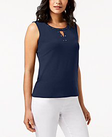 JM Collection Embellished Tank Top, Created for Macy's