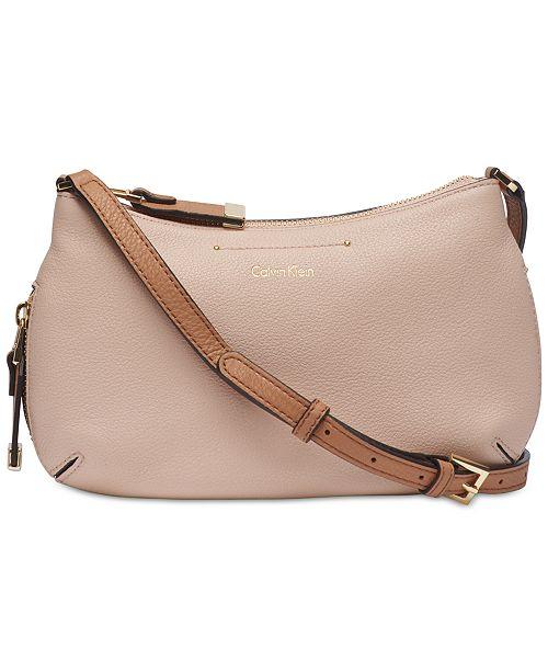 8a548d9421ee Calvin Klein Raelynn Pebble Leather Crossbody - Handbags ...