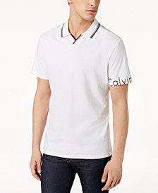Calvin Klein Men's V-Neck Logo Polo