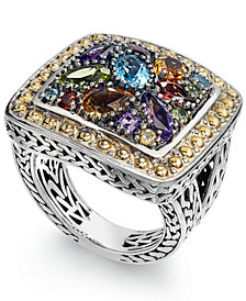 Balissima by EFFY Multi-Stone Ring in 18k Yellow Gold and Sterling Silver (3-1/4 ct. t.w.)