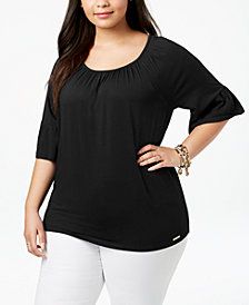 MICHAEL Michael Kors Plus Size Bell-Sleeve Tunic