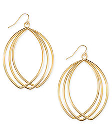 "I.N.C. Extra Large 3"" Triple-Row Drop Hoop Earrings, Created for Macy's"