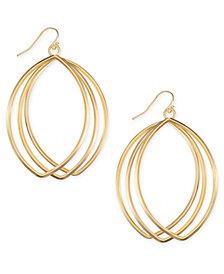 I.N.C. Triple-Row Drop Hoop Earrings, Created for Macy's