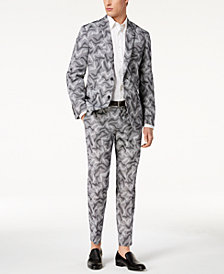 I.N.C. Slim-Fit Camo Jacquard Suit Seperates, Created for Macy's