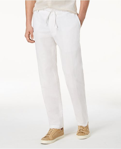 INC International Concepts I.N.C. Men's Linen Drawstring Pants, Created for Macy's