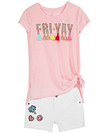 Epic Threads Big Girls Friyay T-Shirt & Patched Shorts, Created for Macy's