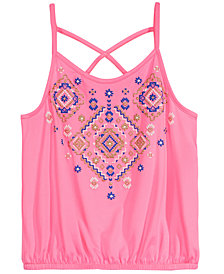 Epic Threads Big Girls Crisscross Strap Tank Top, Created for Macy's