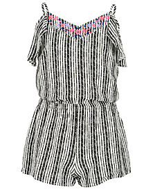 Epic Threads Big Girls Striped Romper, Created for Macy's