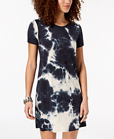 One Clothing Juniors' Tie-Dyed T-Shirt Dress