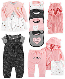 Carter's Baby Girls Kitty Cat-Print Separates