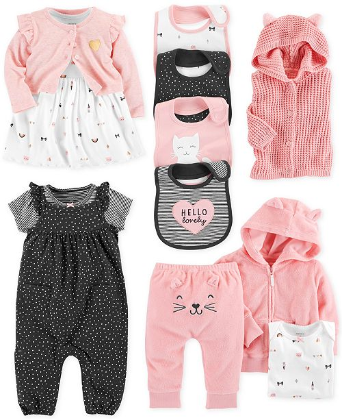 dbfe19d9e Carter s Baby Girls Kitty Cat-Print Separates   Reviews - Sets   Outfits ...