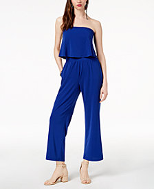 I.N.C. Petite Convertible Popover Jumpsuit, Created for Macy's