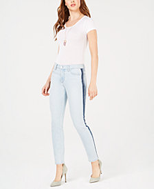 Joe's Jeans The Icon Colorblock Striped Ankle Skinny Jeans