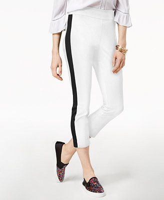 I.N.C. Petite Cropped Striped Leg Pants, Created For Macy's by Inc International Concepts