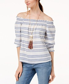 I.N.C. Petite Off-The-Shoulder Top, Created for Macy's