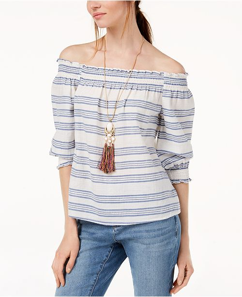 INC International Concepts INC Off-The-Shoulder Top, Created for Macy's