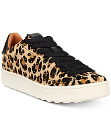 COACH Low-Top Natural Studded Fashion Sneakers