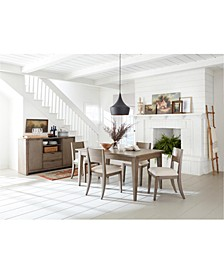Tribeca Grey Expandable Dining 5-Pc. Set (Dining Table & 4 Side Chairs), Created for Macy's