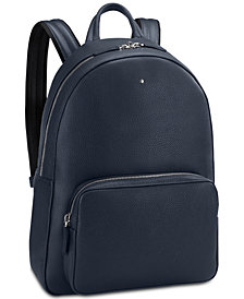 Montblanc Men's Blue Meisterstück Large Leather Backpack