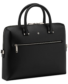 Montblanc Men's Black Westside Slim Leather Document Case