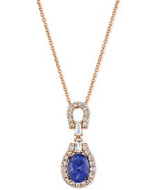 "Strawberry & Nude™ Multi-Gemstone (2 ct. t.w.) & Diamond (1/2 ct. t.w.) 18"" Pendant Necklace in 14k Rose Gold"