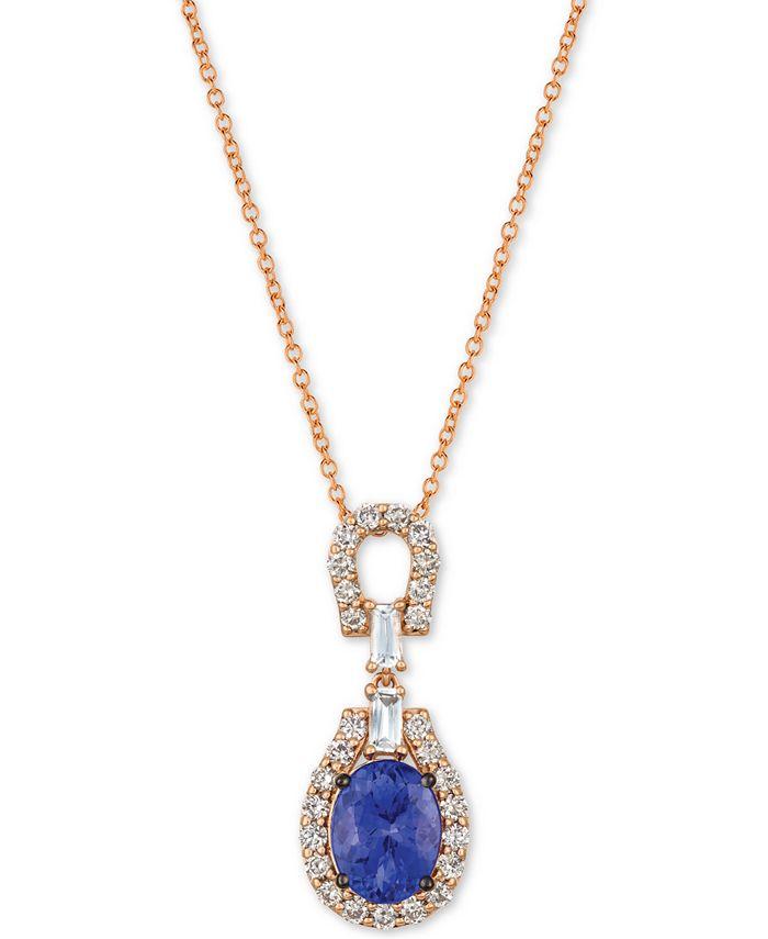 "Le Vian - Multi-Gemstone (2 ct. t.w.) & Diamond (1/2 ct. t.w.) 18"" Pendant Necklace in 14k Rose Gold"