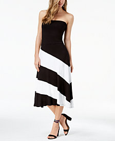I.N.C. Petite Convertible Colorblocked Maxi Skirt, Created for Macy's