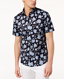 Michael Kors Men's Slim-Fit Floral-Print Shirt