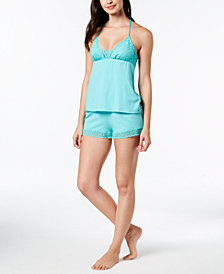 Linea Donatella Whisper Lace T-Back Pajama Set
