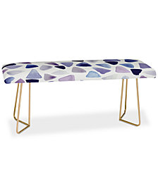 Deny Designs Georgiana Paraschiv Watercolor Triangles Bench