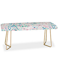 Deny Designs Jacqueline Maldonado Magic Terrazzo Pink Bench