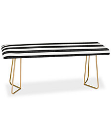 Deny Designs Monika Strigel Farmhouse Shabby Stripes Black Bench