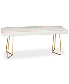 Deny Designs Iveta Abolina Pink Stripeland Bench