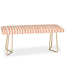 Deny Designs Little Arrow Design Co Dreams Stripes in Peach Bench