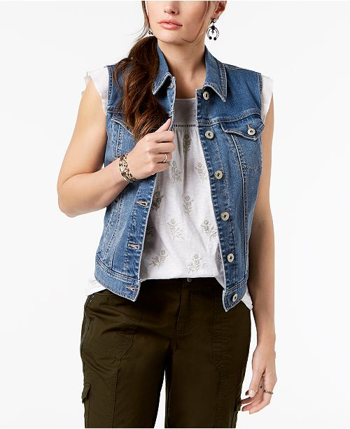 Vest Denim Macy's for amp; Firestone Co Created Style an6Ctx6